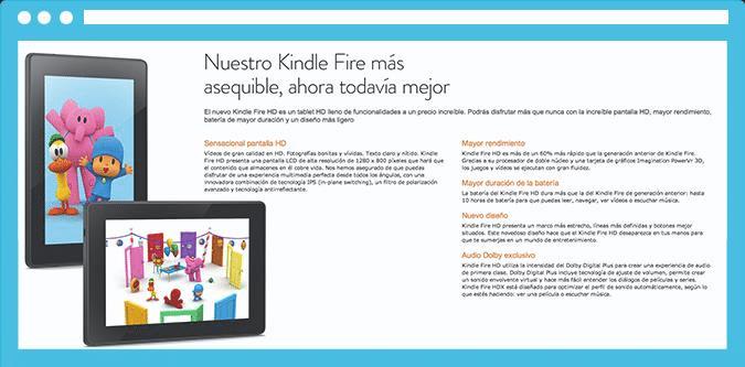 A Amazon faz um ótimo trabalho destacando as vantagens do Amazon Kindle.