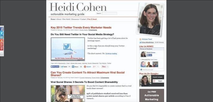 Blog Heidi Cohen