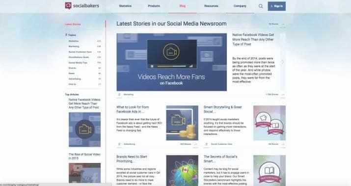 Blog Socialbakers