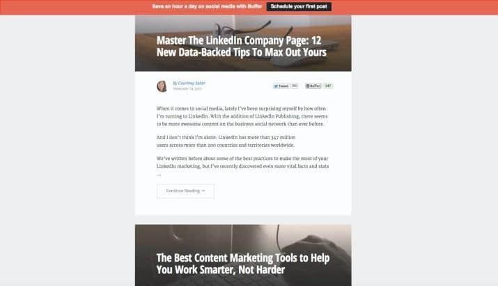 Blog Buffer Social