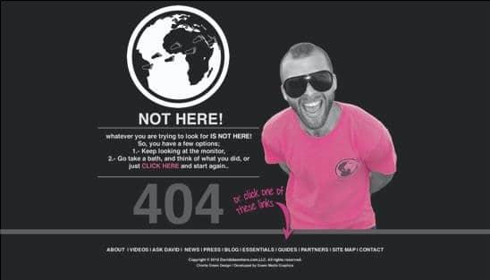 erro 404 david has been here