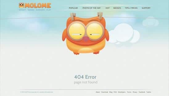 erro 404 molome